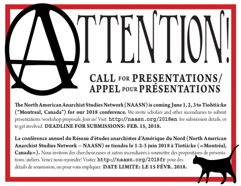CFP 2018 NAASN English and French poster